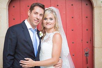 Photo prise par une borne photo de mariés