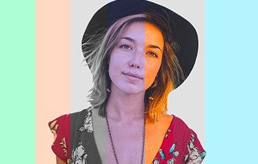 selfie-box avec filtes de couleurs