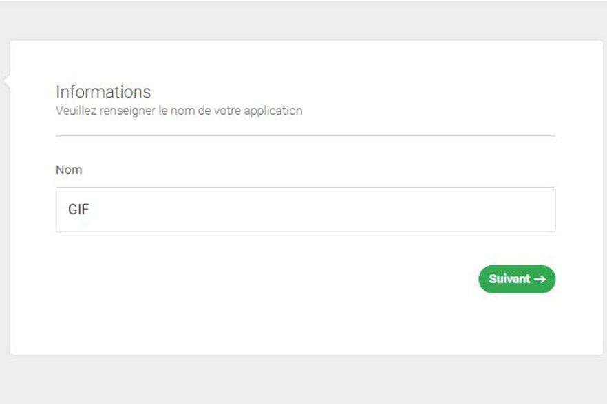 création application bfast-capture